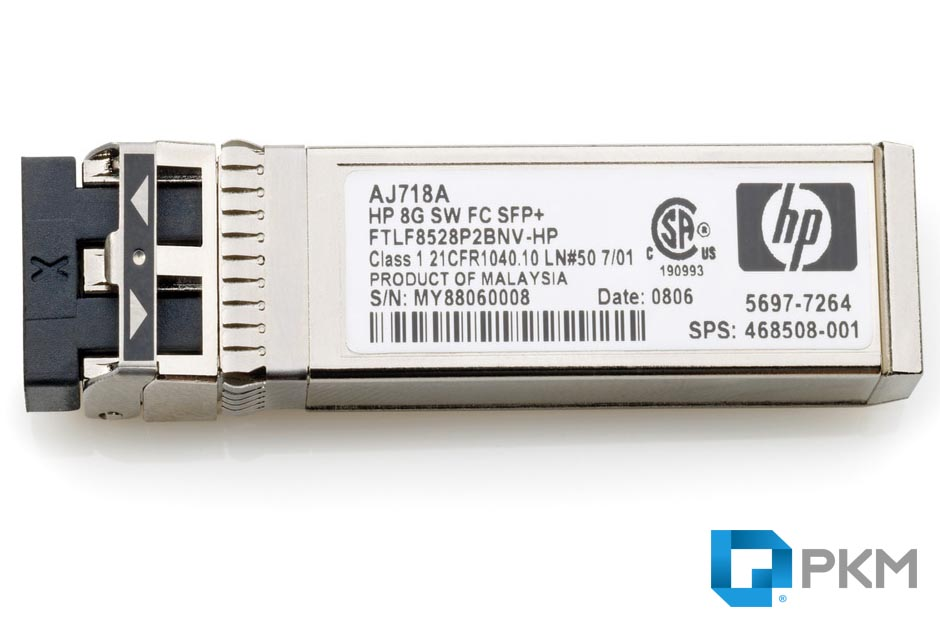SFP  ماژول HP AJ718A StorageWorks 8Gb Short Wave Fibre Channel SFP+ Module